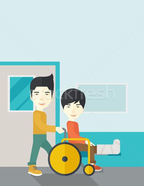 Patient in wheelchair. Stock photo © RAStudio