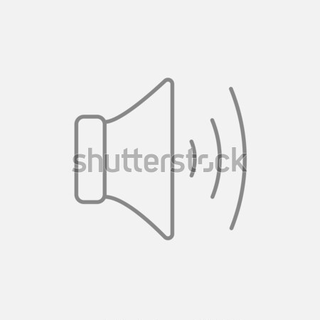 Spreker volume lijn icon web mobiele Stockfoto © RAStudio