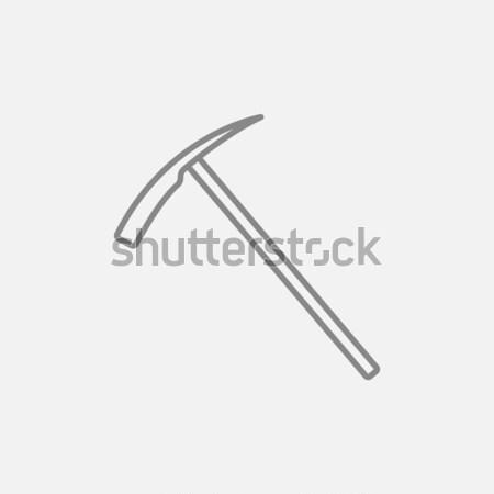 Ice pickaxe line icon. Stock photo © RAStudio