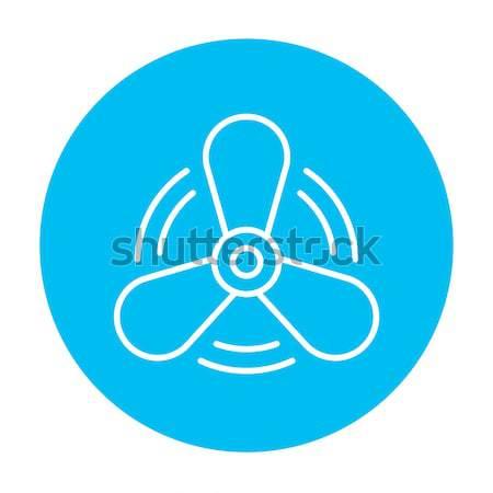 Csónak propeller vonal ikon háló mobil Stock fotó © RAStudio