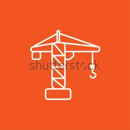 Construction crane line icon. Stock photo © RAStudio