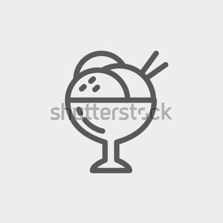 Cup of an ice cream line icon. Stock photo © RAStudio