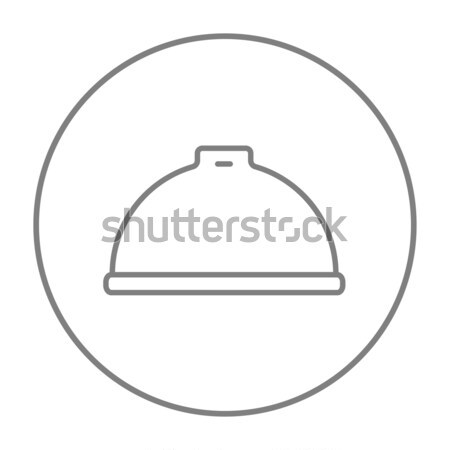 Restaurant cloche line icon. Stock photo © RAStudio