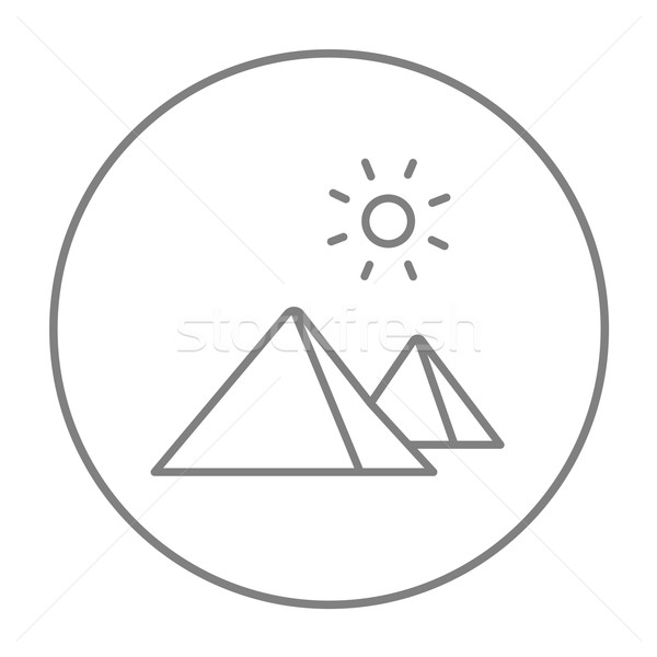 Egyptian pyramids line icon. Stock photo © RAStudio