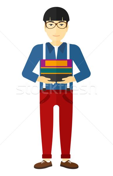Man holding folders. Stock photo © RAStudio
