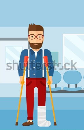 Man with oil can and filling nozzle. Stock photo © RAStudio
