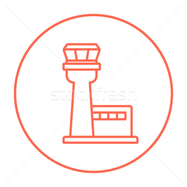 Flight control tower line icon. Stock photo © RAStudio