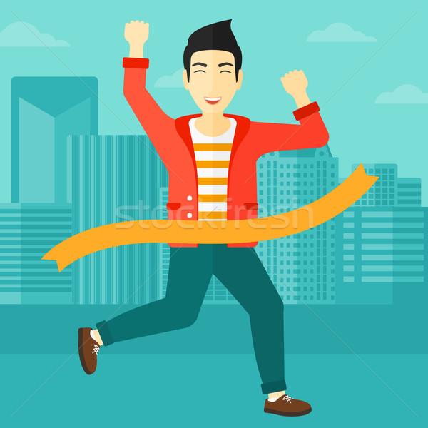 ビジネスマン アジア 男 を実行して ストックフォト © RAStudio