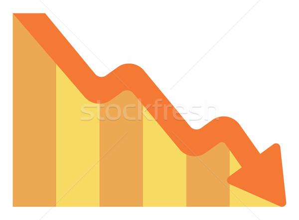 Pijl wijzend naar beneden vector ontwerp illustratie Stockfoto © RAStudio