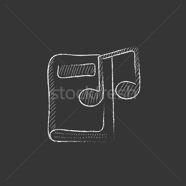 De audio libro tiza icono dibujado a mano Foto stock © RAStudio
