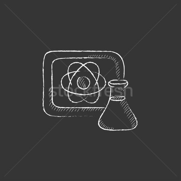 átomo assinar conselho giz Foto stock © RAStudio
