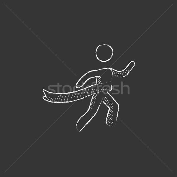 勝者 仕上げ チョーク アイコン 手描き ストックフォト © RAStudio