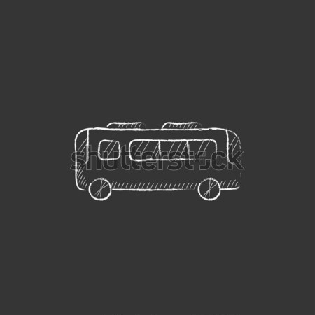 Minibus. Drawn in chalk icon. Stock photo © RAStudio