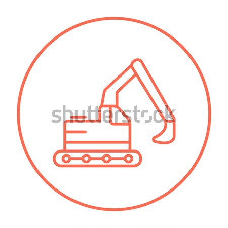 Excavator line icon. Stock photo © RAStudio