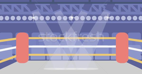 бокса кольца вектора дизайна иллюстрация горизонтальный Сток-фото © RAStudio