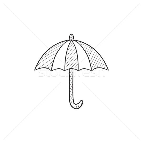 Umbrella sketch icon. Stock photo © RAStudio