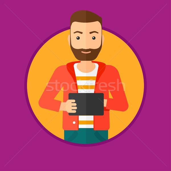 Student werken man baard Stockfoto © RAStudio