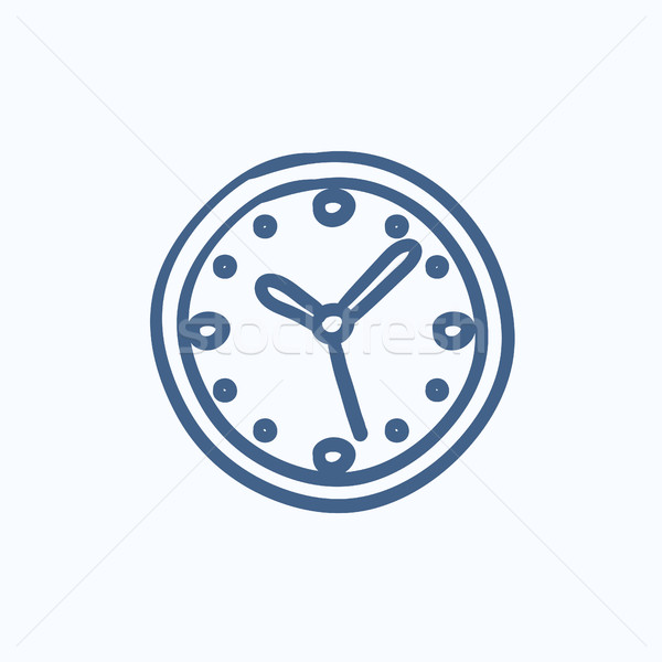 Wall clock sketch icon. Stock photo © RAStudio