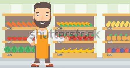 Man refusing junk food vector illustration. Stock photo © RAStudio