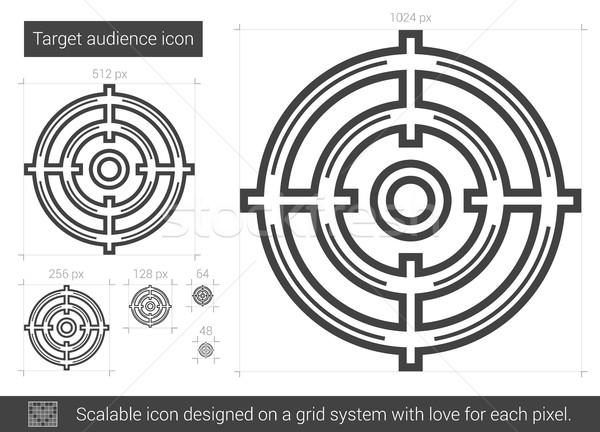 Hedef izleyici hat ikon vektör yalıtılmış Stok fotoğraf © RAStudio