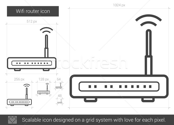 Wifi router line icon. Stock photo © RAStudio