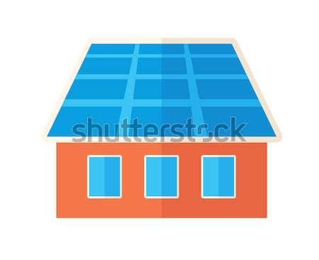 House with solar panels. Stock photo © RAStudio