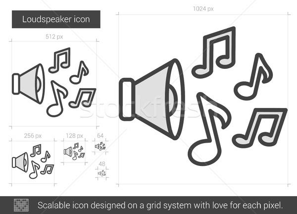 Hangfal vonal ikon vektor izolált fehér Stock fotó © RAStudio