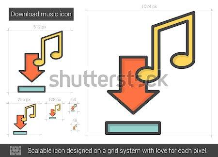 скачать музыку линия икона вектора изолированный Сток-фото © RAStudio