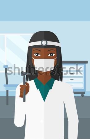 Paciente ojo mujer optometrista médicos Foto stock © RAStudio