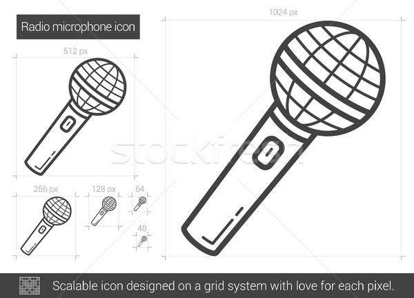 Radio microphone line icon. Stock photo © RAStudio