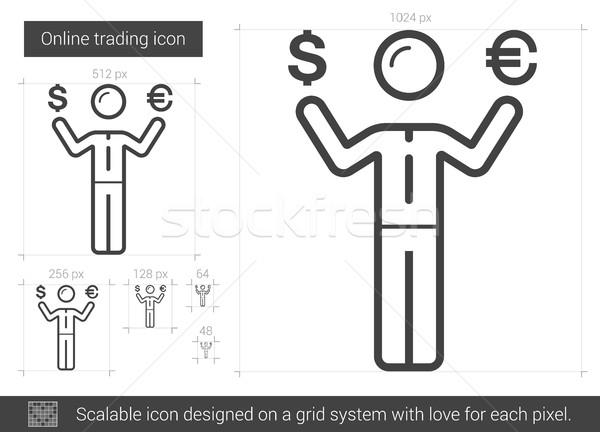 Online di trading line icona vettore isolato Foto d'archivio © RAStudio