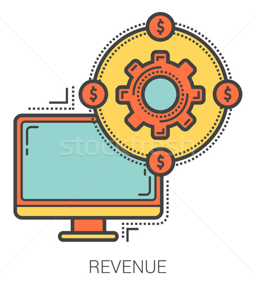 Revenue line infographic. Stock photo © RAStudio