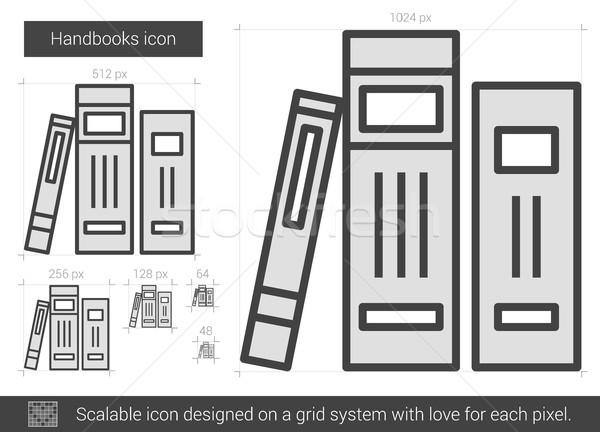 Vonal ikon vektor izolált fehér infografika Stock fotó © RAStudio
