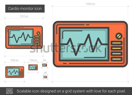 Cardio monitor line icon. Stock photo © RAStudio