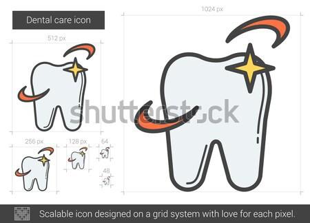Dental care line icon. Stock photo © RAStudio