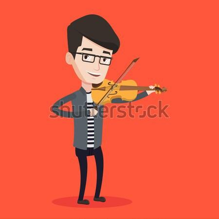 Man playing violin vector illustration. Stock photo © RAStudio
