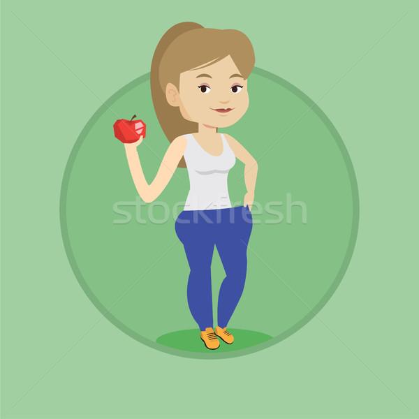 Esbelto mulher calças resultados dieta Foto stock © RAStudio
