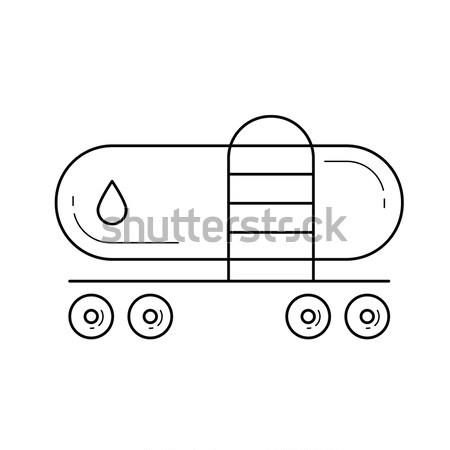 Trein lijn icon vector geïsoleerd witte Stockfoto © RAStudio