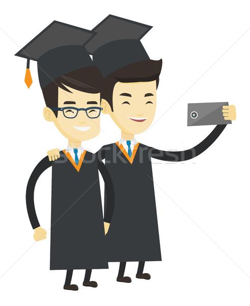 卒業生 小さな アジア 卒業 幸せ ストックフォト © RAStudio