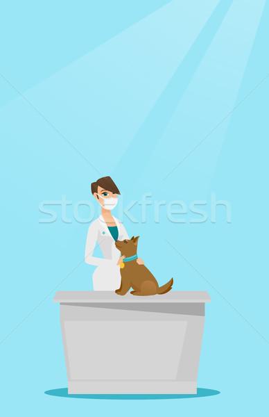 ветеринар собака молодые кавказский врач Сток-фото © RAStudio