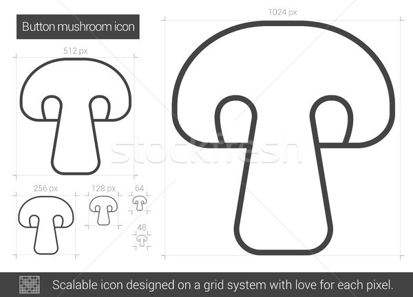 Button mushroom line icon. Stock photo © RAStudio