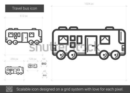 Reise Bus line Symbol Vektor isoliert Stock foto © RAStudio