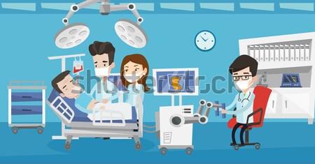 Médecin opération robot chirurgie Photo stock © RAStudio