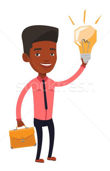 Сток-фото: успешный · бизнеса · Идея · африканских · бизнесмен · портфель
