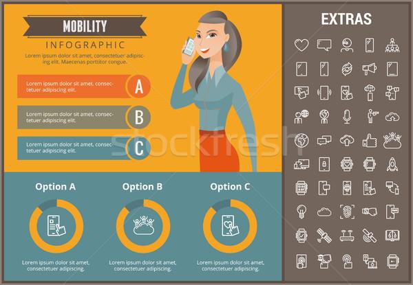 Mobilità infografica modello elementi icone personalizzabile Foto d'archivio © RAStudio