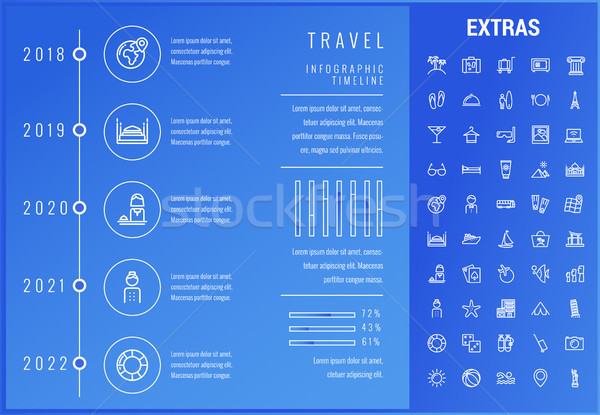 путешествия шаблон Элементы иконки timeline Сток-фото © RAStudio
