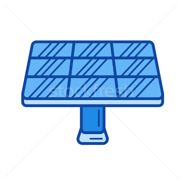 Solar panel line icon. Stock photo © RAStudio