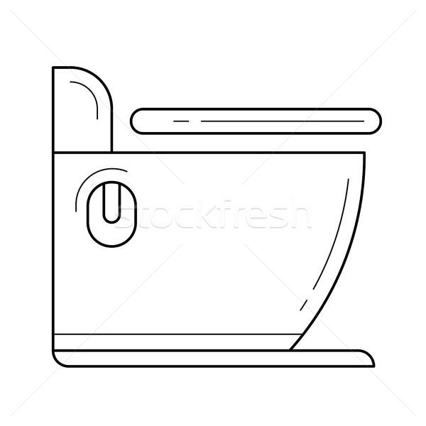 Toilet line icon. Stock photo © RAStudio