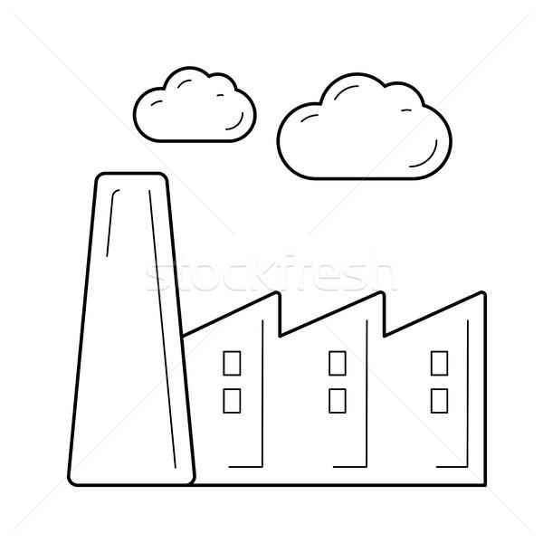 Factory vector line icon. Stock photo © RAStudio