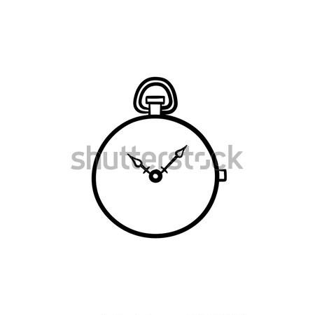 Zsebóra kézzel rajzolt rajz ikon skicc firka Stock fotó © RAStudio